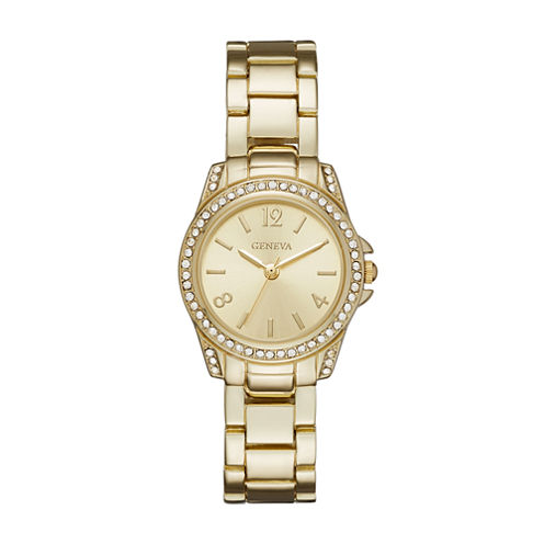 Geneva Womens Gold-Tone Bracelet Watch