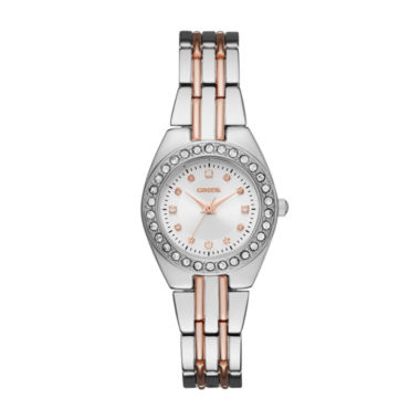 jcpenney.com | Geneva Womens Silver and Rose Gold-Tone Bracelet Watch