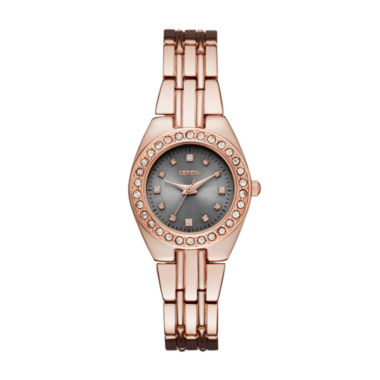 jcpenney.com | Geneva Womens Rose Gold-Tone and Gray Bracelet Watch