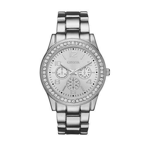Geneva Womens Silver-Tone Watch