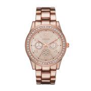 Geneva Womens Rose Goldtone Bracelet Watches