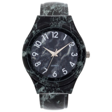jcpenney.com | Fashion Watches Womens All Black Bangle Watch