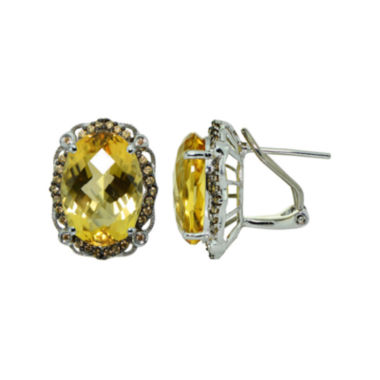jcpenney.com | Oval Orange Citrine Stud Earrings