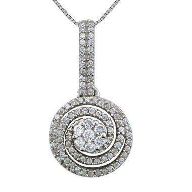 jcpenney.com | Diamond Blossom Womens 1/4 CT. T.W. White Diamond 10K Gold Pendant Necklace