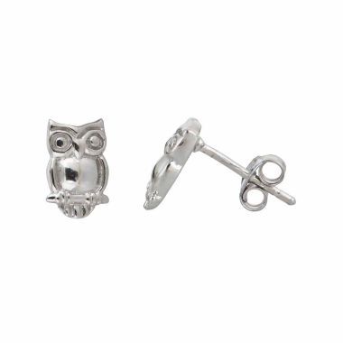 jcpenney.com | Sterling Silver Owl Stud Earrings