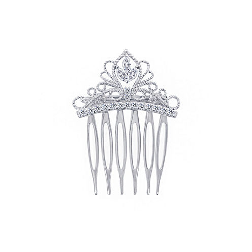 DiamonArt® Sterling Silver Cubic Zirconia Tiara Hair Comb