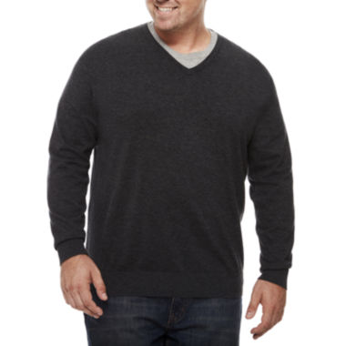 jcpenney.com | Claiborne V Neck Long Sleeve Pullover Sweater Big and Tall
