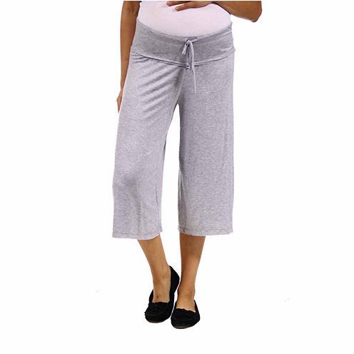 24/7 Comfort Apparel Solid Palazzo Pants-Plus Maternity