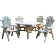 Roundabout Table 4 Dining Chair Grouping