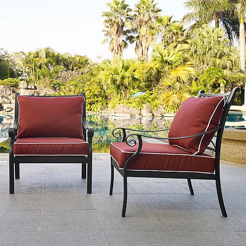 Crosley Portofino Cast Aluminum 2-pc. Patio Dining Chair