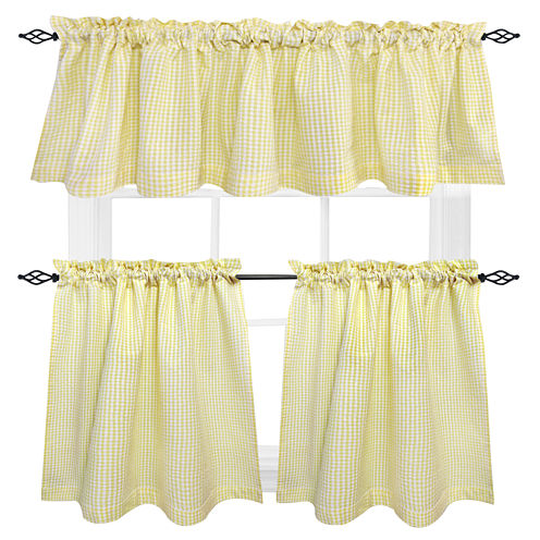 Seersucker Rod-Pocket Cotton Valance