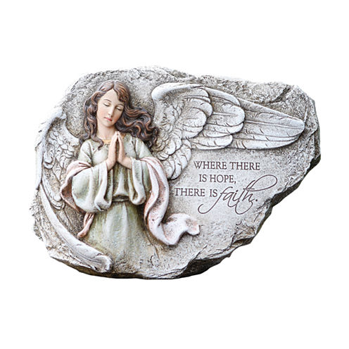 "8.25"" Praying Angel Outdoor Plaque"