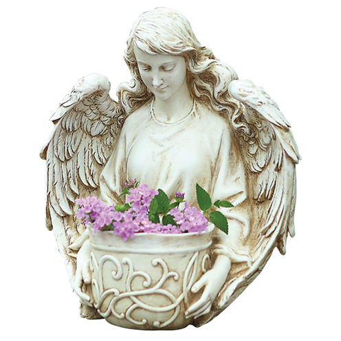 "12.5"" Angel Bust Outdoor Planter"