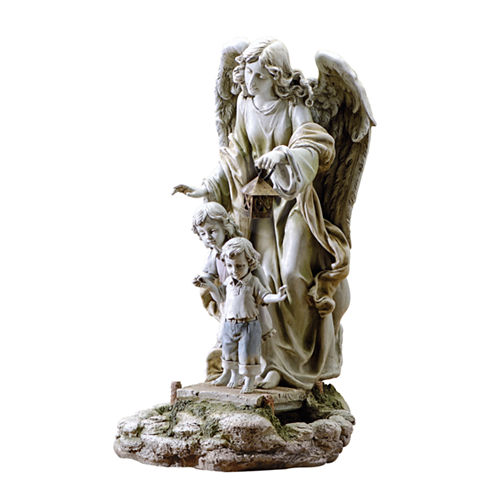 "20.5"" Solar Guardian Angel Outdoor Statue"