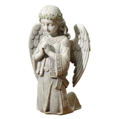 "jcpenney.com | 12.25"" Celtic Kneel Angel Outdoor Statue"