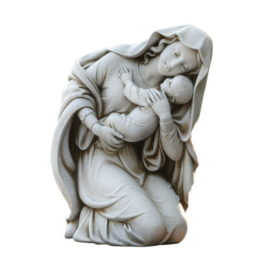"jcpenney.com | 13.5"" Kneeling Madonna And Child Outdoor"