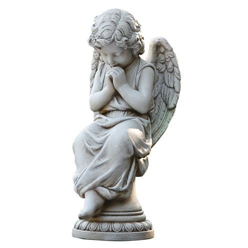 SEATED ANGEL OUTDOOR STATUE