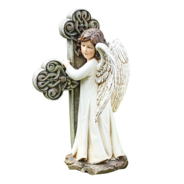 "jcpenney.com | 11.75"" Angel Cross Outdoor Statue"