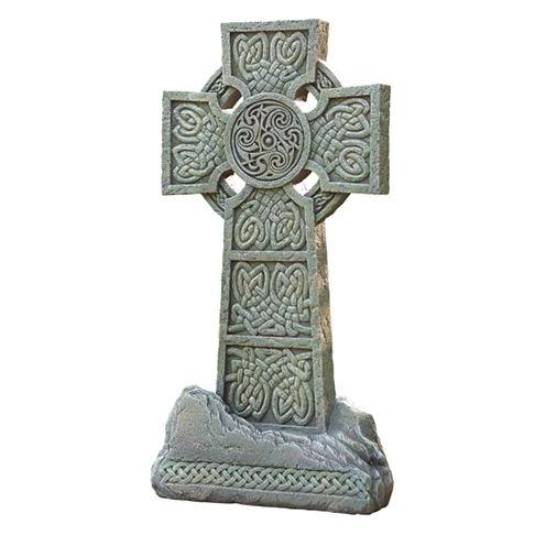 """16.25"""" Celtic Garden Cross Outdoor Statue"""