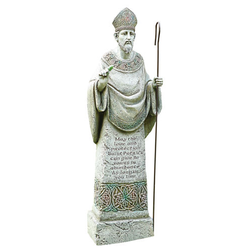 "26.5"" St. Patrick Outdoor Statue"