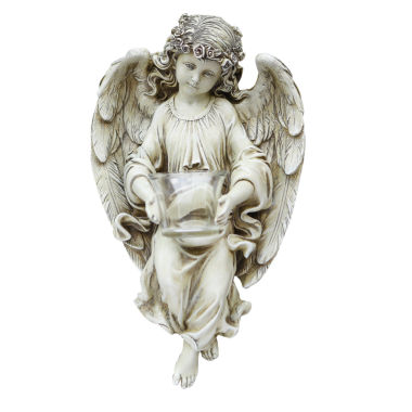 "jcpenney.com | 13.75"" Angel With T Ealight Holder Outdoor Statue"