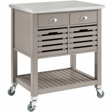 jcpenney.com | Linon Robbin Stainless Steel-Top Kitchen Cart