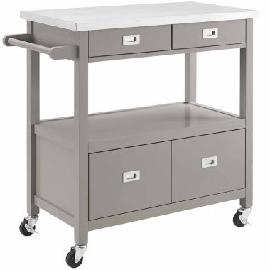 jcpenney.com | Linon Sydney Stainless Steel-Top Kitchen Cart
