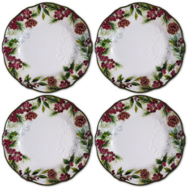 jcpenney.com | JCPenney Home Pineberry Set of 4 Dinner Plates