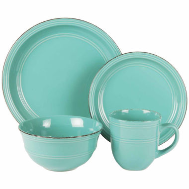 jcpenney.com | Jay Imports Madelyn Aqua 16-pc. Dinnerware Set