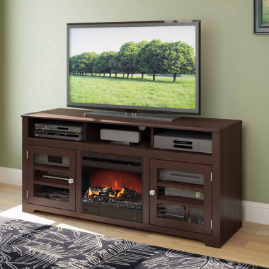 "jcpenney.com | West Lake Fireplace TV Bench, for up to 68"" TVs"