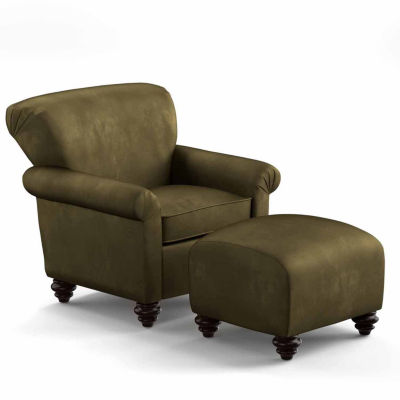 Upholstered Chair And Ottoman frank upholstered chair and ottoman - jcpenney