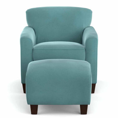 jcpenney.com | Fabric Pad-Arm Chair and Ottoman