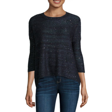 jcpenney.com | a.n.a Long Sleeve Crew Neck Pullover Sweater