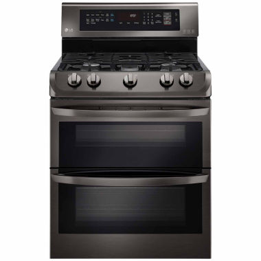 jcpenney.com | LG 6.9 cu. ft. Gas Double Oven Range with ProBake Convection™, EasyClean®