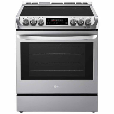 jcpenney.com | LG 6.3 cu. ft. Capacity Electric Slide-in Range with ProBake Convection™ and EasyClean®