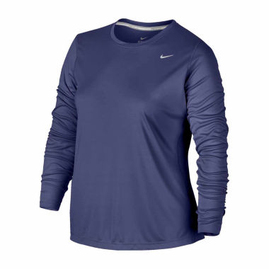 jcpenney.com | Nike Long Sleeve Crew Neck T-Shirt-Plus