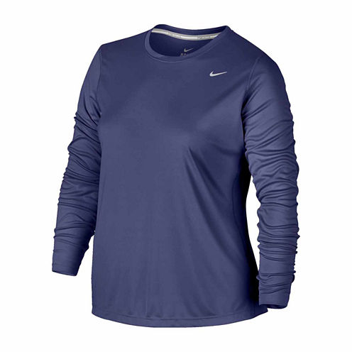 Nike Long Sleeve Crew Neck T-Shirt-Plus