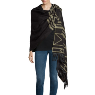 jcpenney.com | Mixit™ Aztec Blanket Wrap with Fringe