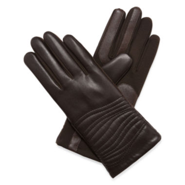 jcpenney.com | Isotoner® smarTouch® Faux-Leather Stretch Gloves
