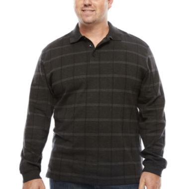 jcpenney.com | Van Heusen Jaspe Windowpane Polo Shirt-Big & Tall