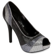 Worthington® Lana Ombre Glitter Peep-Toe Pumps