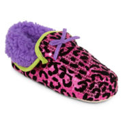 Leopard Print Moccasin Slippers