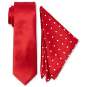 JF J. Ferrar® Tie and Pocket Square Set