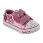 Skechers® Shuffles Girls Flower Sneakers - Toddler