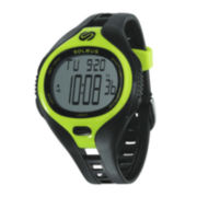 Soleus Dash Womens 30-Lap Black Silicone Strap Sport Watch
