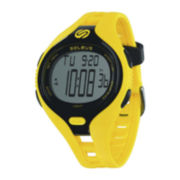 Soleus Dash Womens 30-Lap Yellow Silicone Strap Sport Watch