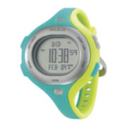 Soleus Chicked Womens Teal/Yellow Silicone Strap Sport Watch