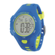 Soleus Contender Mens Blue/Yellow Silicone Strap Sport Watch