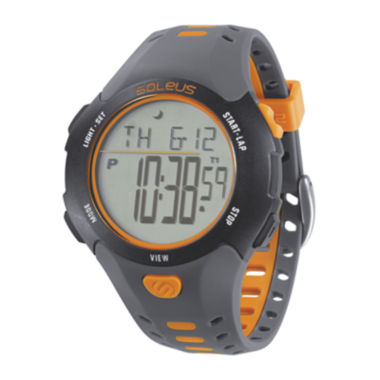 jcpenney.com | Soleus Contender Mens Gray and Orange Digital Running Watch