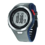 Soleus Ultra Sole Mens Gray Silicone Strap Chronograph Sport Watch